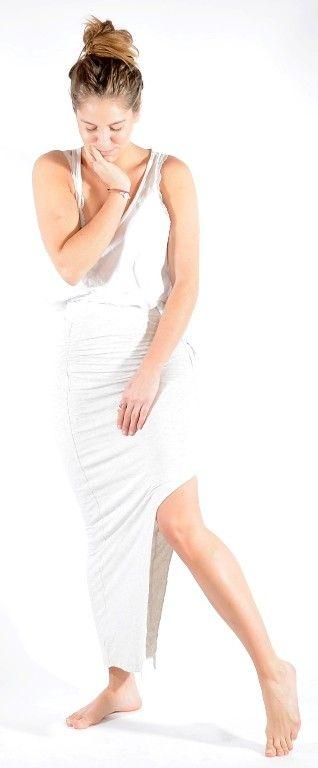 Long Jersey skirt Grey melange http://www.corneliashus.no/bytimo-maxiskjort-grey-melange.html