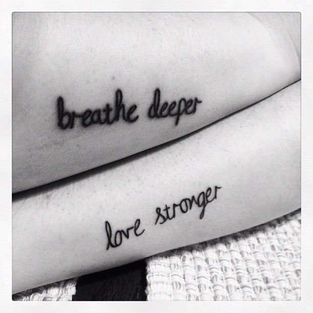 Sister tattoo :) also with live better for bug