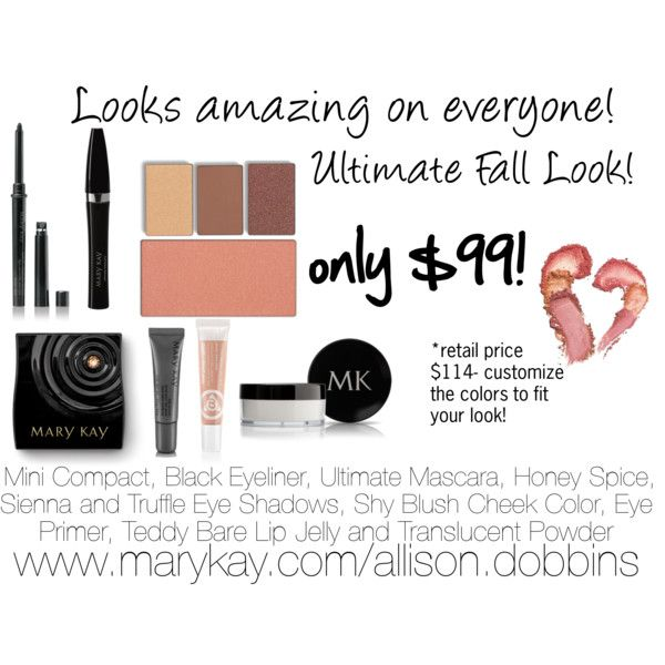 """""""Mary Kay Fall Look"""" Affordable and perfect for every skin tone! www.marykay.com/mmarino299 Contact me to try before you buy!"""