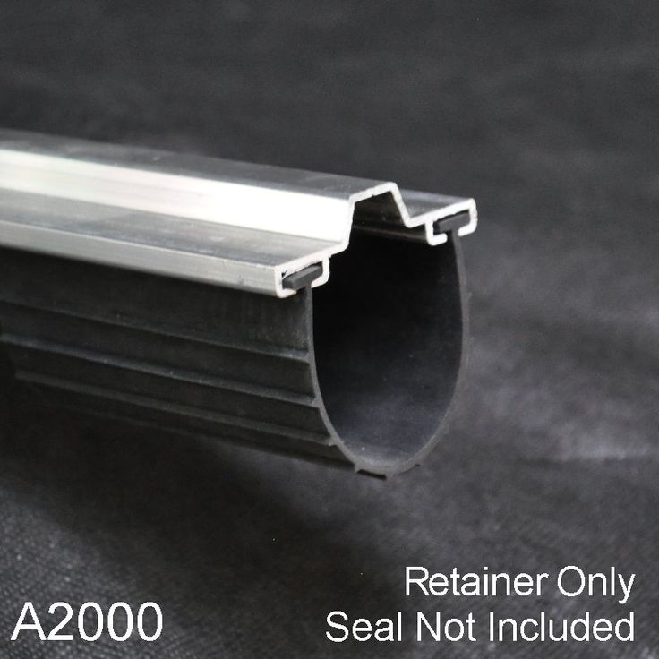 Garage Door Bottom Seal Aluminum Retainers.  Get a tight seal on your door by replacing the retainer and seal.