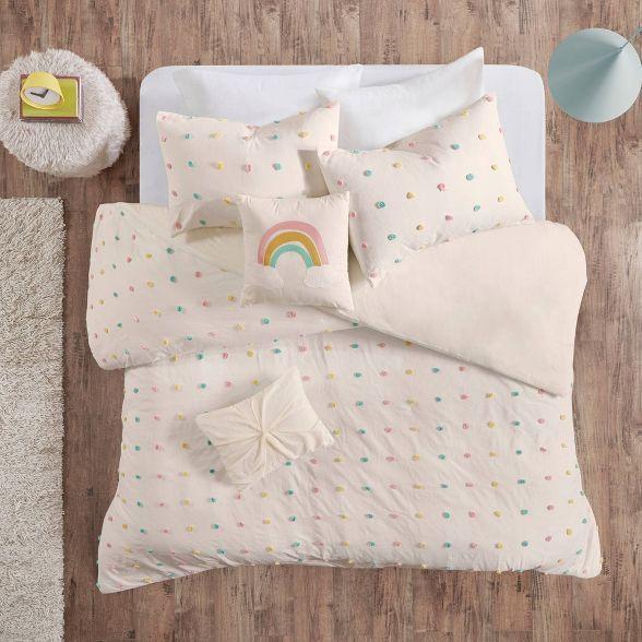 Kelsey Cotton Pom Pom Duvet Cover Set Duvet Cover Sets Comforter Sets Kids Duvet Cover