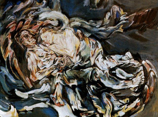 Oskar Kokoschka.- La tempestad o la novia del viento (1914)