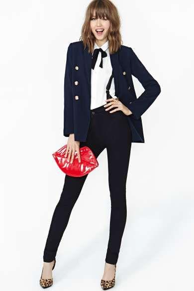 Court James Suspender Skinny Jeans - Nasty Gal Fashion
