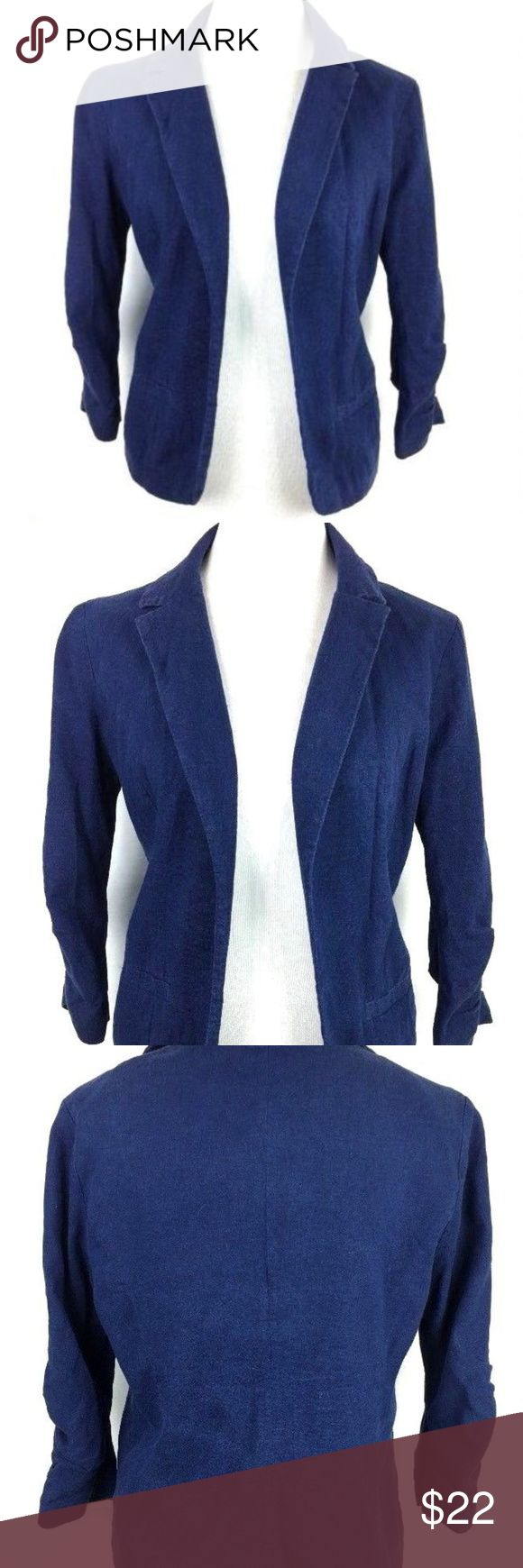 "French Connection Women's Linen jacket Medium French Connection linen-blend jacket Size Medium 17"" armpit to armpit 15.5"" flat lay waist 22"" center of back under collar to bottom length No holes, stains or visible wear French Connection Jackets & Coats Blazers"