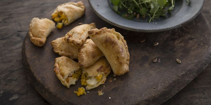 Chef Dominic Chapman's empanadas recipe are stuffed full of cumin-spiced butternut squash and root vegetables, perfect for a casual lunch or snack.