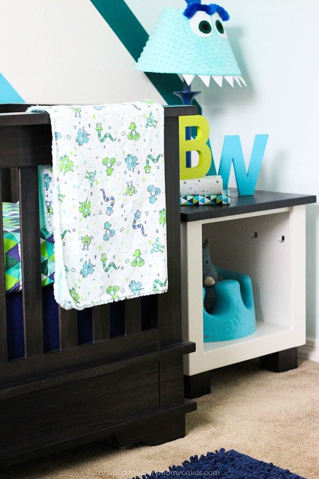 This Baby Boy Monster Room is bright and colorful and a room a boy can grow into!
