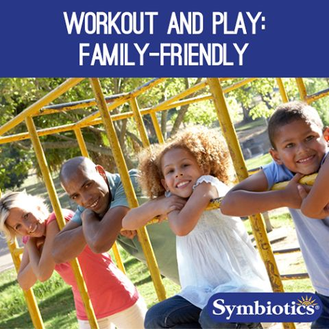 It may look like a playground, but those monkey bars and slides can be used like a family-friendly #gym. Here are 4 simple workouts you can try with your children while keeping the fun alive. #Symbiotics #Healthykids