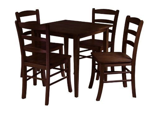Groveland 5Pc Square Dining Table With 4 Chairs By Winsome Wood # 94532 By  Winsome Wood