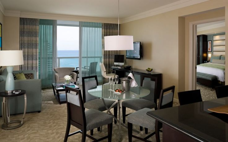 Located just 12 miles from Miami International Airport and 28 miles from Fort Lauderdale, Fontainebleau is home to 1,504 luxurious guest rooms. Description from privatejetcharter.com. I searched for this on bing.com/images