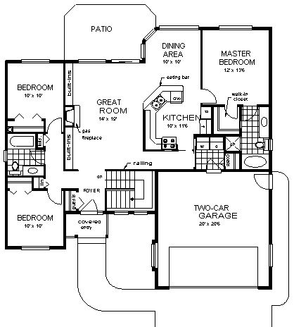 U Shaped House Plans With Garage Efficient U Shaped