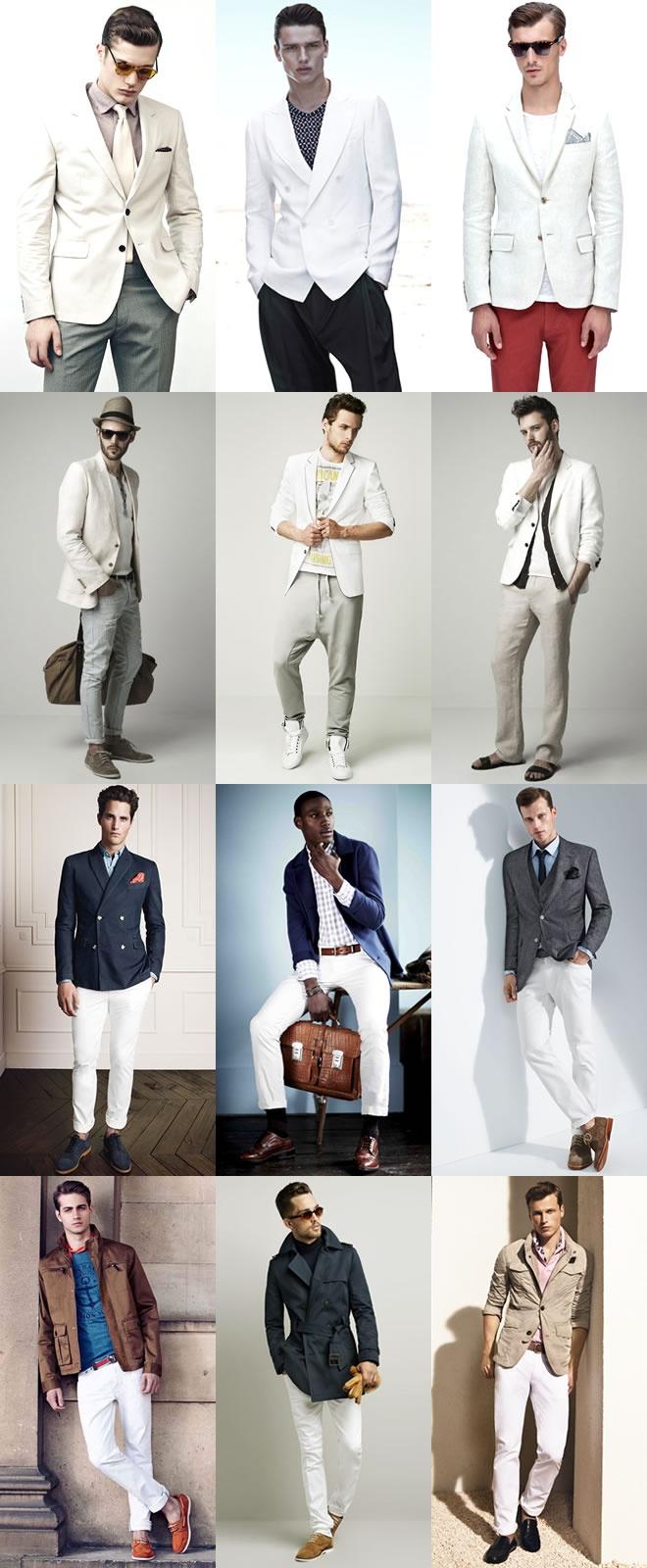 Men's White Suits - Utilising As Separates