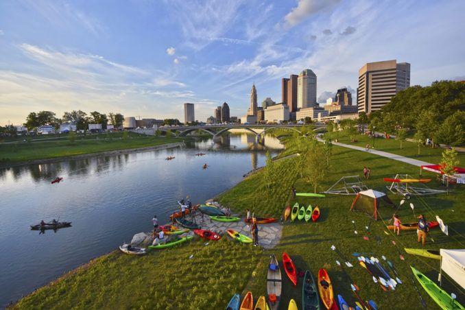 Mksk Repairing The Scioto River Ecosystem With The Scioto Greenways Columbus Ohio Riverfro Landscape Architecture Landscape Architecture Design Ecosystems