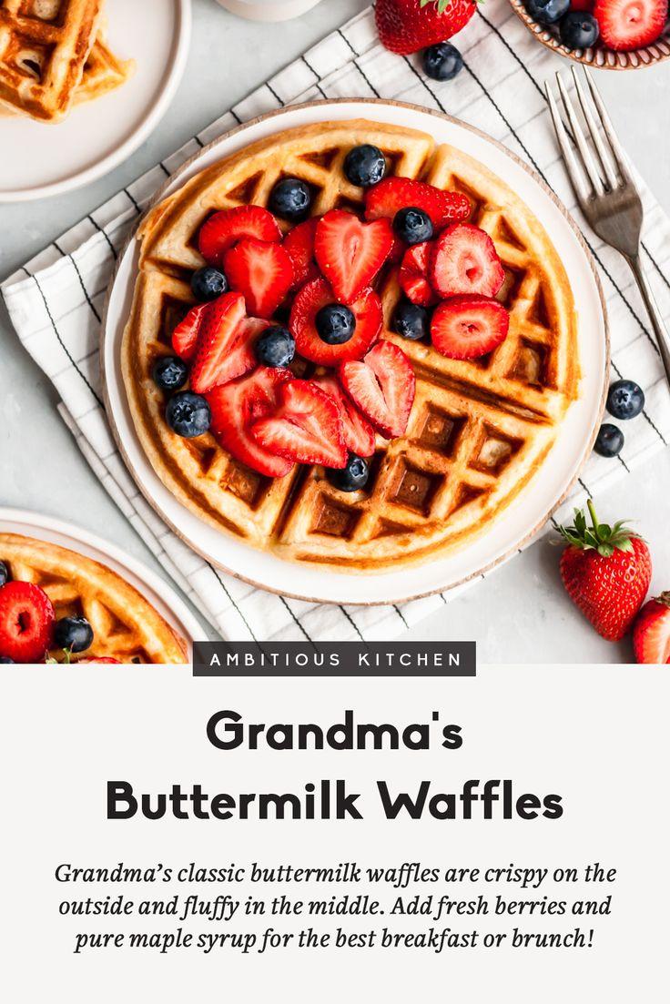 Grandma S Buttermilk Waffles Recipe Buttermilk Waffles Homemade Waffles Sweet Breakfast