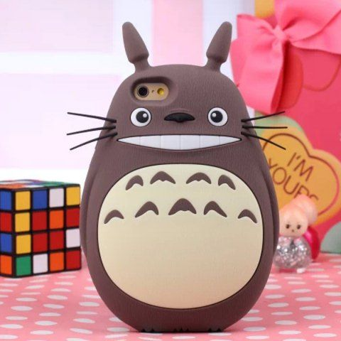 Tonari no Totoro Rubber Phone Cover Case for iPhone 5 / 5S with Fat Body