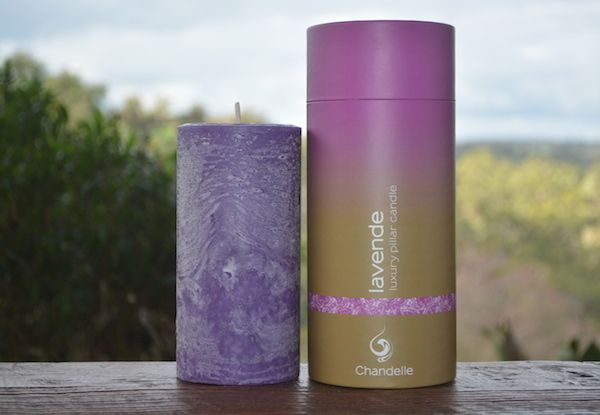 New Luxe Pillar range. Lavende- A classic aromatherapy treasure with soothing, calming, uplifting & rejuvenating properties.  Available in store at Chandelle Galerie.   #Candles