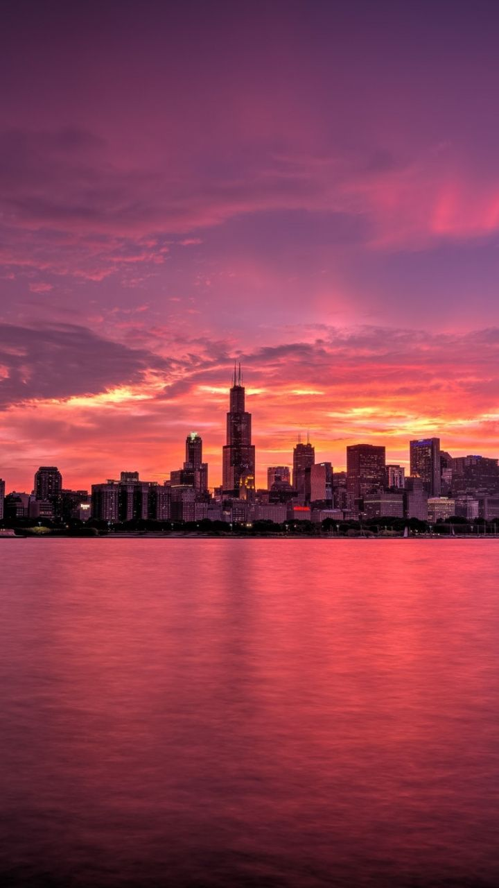 Find blue pink galaxy stock images in hd and millions of other. Sunset in Chicago, Illinois, U.S. | Sunrise wallpaper