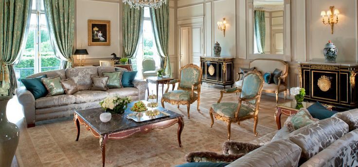 The Presidential Apartment at Le Meurice Paris. What's not to love?!  Review of this grand hotel at http://www.parisinsidersguide.com/paris-five-star-hotels.html