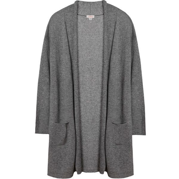 Open Cashmere Cardigan (£175) ❤ liked on Polyvore featuring tops, cardigans, sleeve top, cashmere cardigan, cashmere top, slim fit cardigan and wet look top