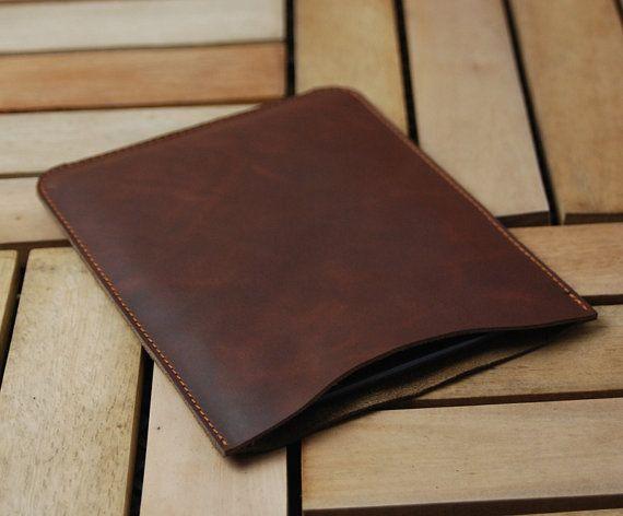 "Leather 13"" Macbook Sleeve, Macbook Case, Macbook 13 Pro Retina, 13 Macbook Air, Macbook Cover, Top Open, Handmade-B01-MB-R"
