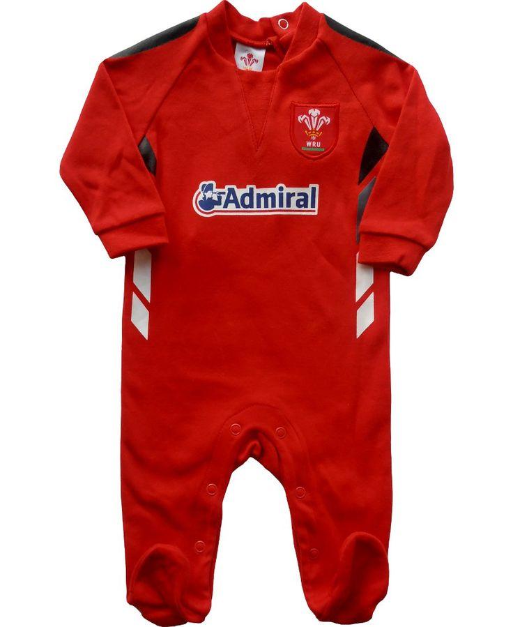 Wales WRU Rugby Baby Sleepsuit | Sportbaby