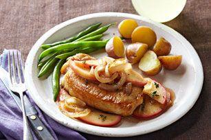Pork Chops with Apples & Onions Recipe - Kraft Recipes