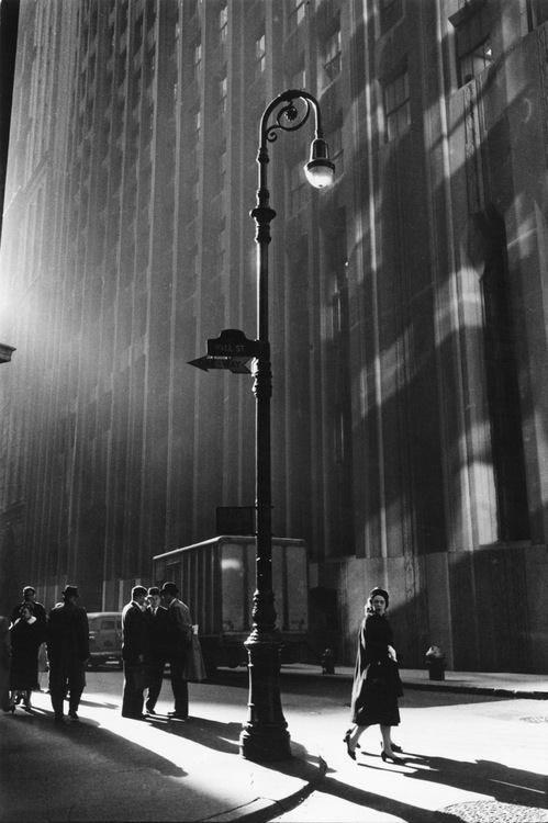 ●  Such An Artful Photo!    - Wall Street, New York City, by Neil Libbert, 1960
