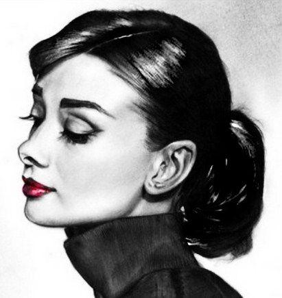 My portrait of Audrey Hepburn.