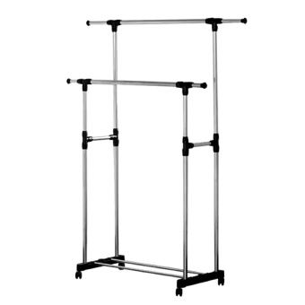 Buy Adjustable Double Rail Garment Rack with Shoes Shelf on Wheels online at Lazada. Discount prices and promotional sale on all. Free Shipping.