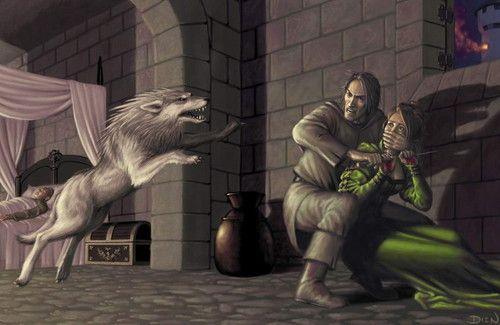 Summer saves Bran #gameofthrones #summer #direwolf #branstark