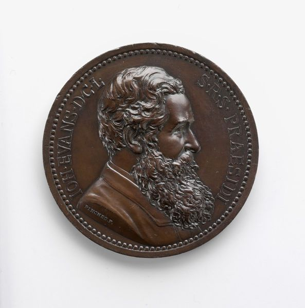 John Evans/anniversary of the Numismatic Society of London | Messrs John Pinches Ltd | John Evans/anniversary of the Numismatic Society of London (Medal) Date: 1887 (made) Place: London Artist/maker: Messrs John Pinches Ltd