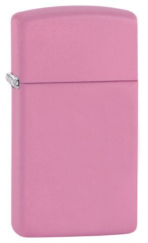 Zippo Slim Pink Matte Lighter