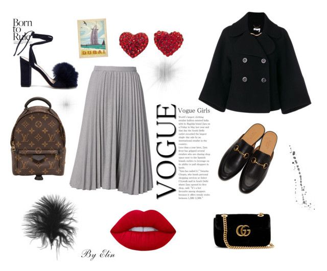 """""""A day at the mall"""" by elinohrner on Polyvore featuring Louis Vuitton, Gucci, Lime Crime, Chloé and Loeffler Randall"""