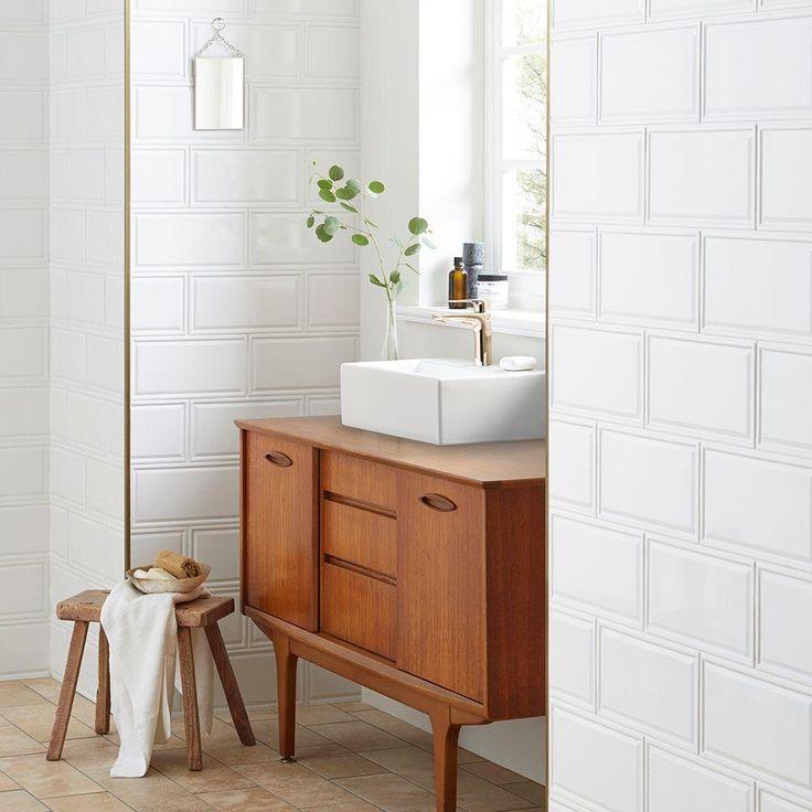 Merola Tile Hemline White 6 In X 12 In Ceramic Subway Wall Tile