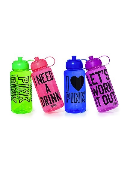 Must have water bottles for the hot summer ahead- PINK by Victorias Secret