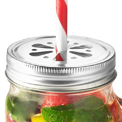 Kilner Drinking Jar Flower Lids Pack of 6 - http://geschirrkaufen.online/kilner/kilner-drinking-jar-flower-lids-pack-of-6