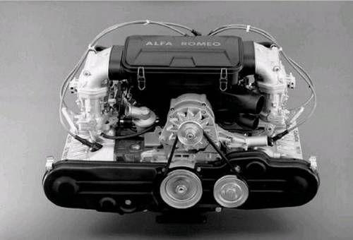 Alfa Romeo Flat-4 boxer engine view