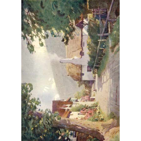 Somerset 1927 Luccombe Village Canvas Art