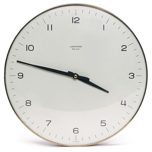 Simply beautiful. Max Bill Junghans Wall Clock.