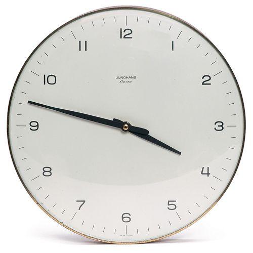wall clock | max bill junghans: Analog Clocks, Bill Junghans, Living Room, Wall Clocks, Tick Tock, Max Bill, Chalkboards Wall, Clocks Wwwjustforclockscom, Hostess Gift