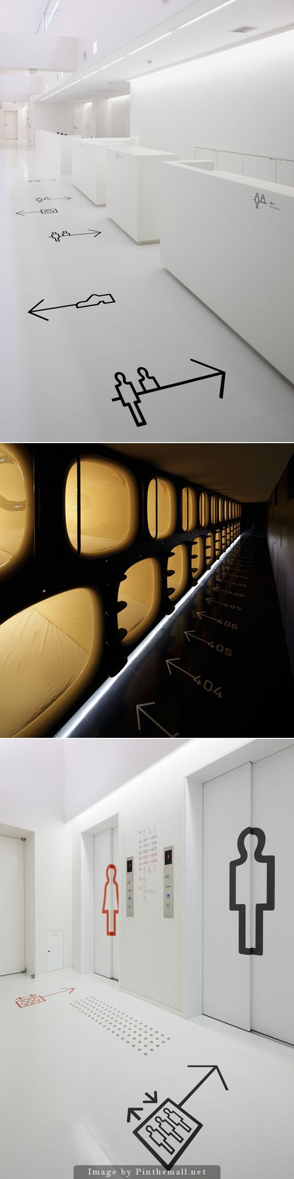 9h (Nine Hours) Japan. 9h (Nainawasu) is a capsule hotel that offers luxury in a minimum living space. The 9h capsule hotel and all amenities were designed by Fumie Shibata of Studio S, with identity and signage by Hiromura Design Office.