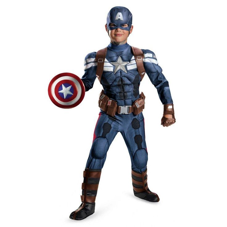 Captain America Halloween costumes come in adult, kids, toddler, and even infants sizes. Plus Captain America Halloween Costumes in several different styles.
