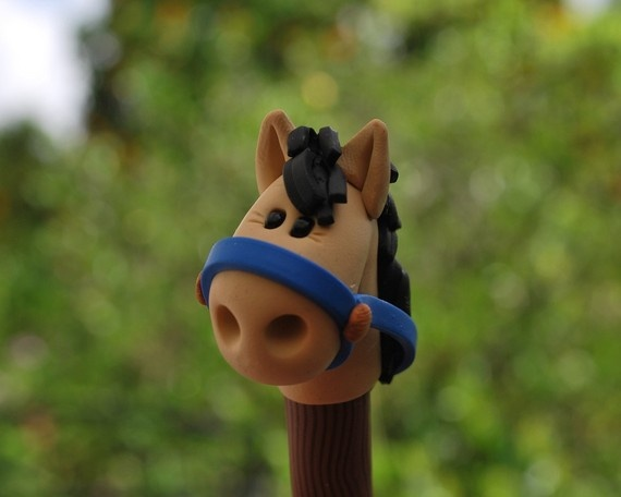 polymer clay horse penPolymer Clay, Polymerclay Ideas