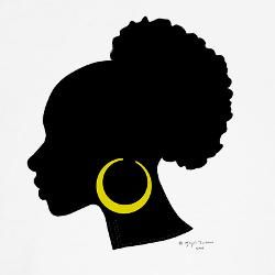 Afro puff silhouette