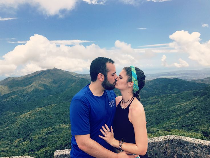 Top of the mountain of the El Yunque rainforest in Puerto Rico