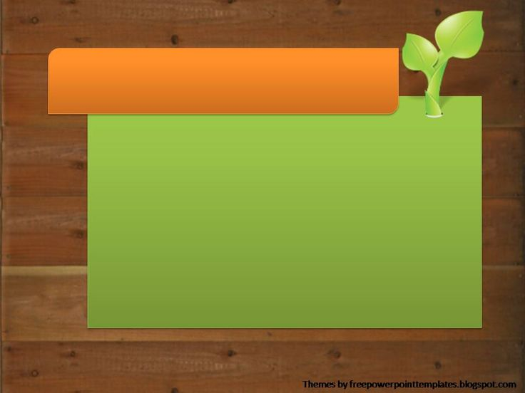 free powerpoint templates plant powerpoint background