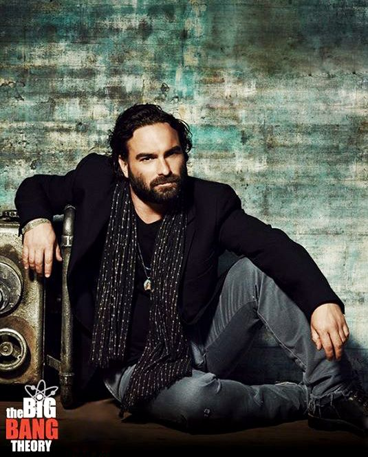 Johnny Galecki,  I've never seen him like this.....
