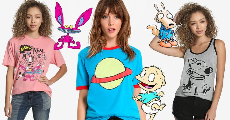 Nickelodeon se ha asociado con BoxLunch, para crear una pequeña línea de ropa, accesorios y peluches inspirados en nuestras caricaturas favoritas de los 90
