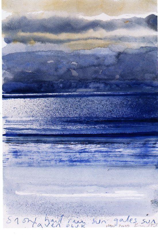 Snow, hail, rain, sun, gales, sun, November ~ 2010  Kurt Jackson