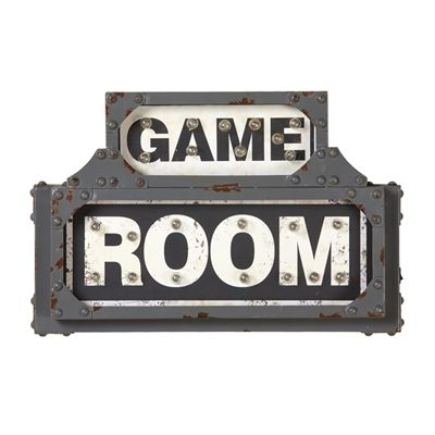 RAM Game Room R866 Lit Metal Game Room Battery Operated Sign