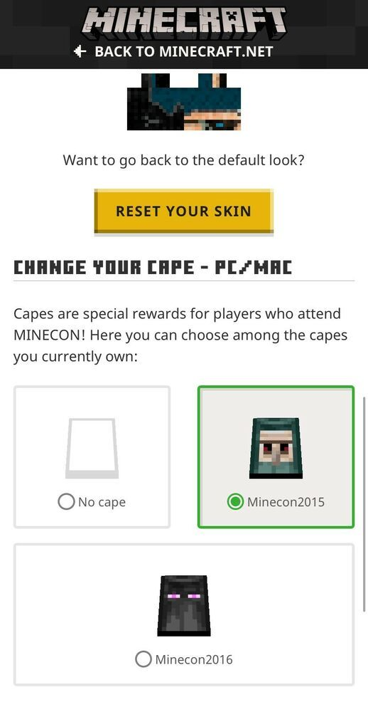 MINECON 2015/2016 CAPE ACCOUNT FULL ACCESS #minecraft